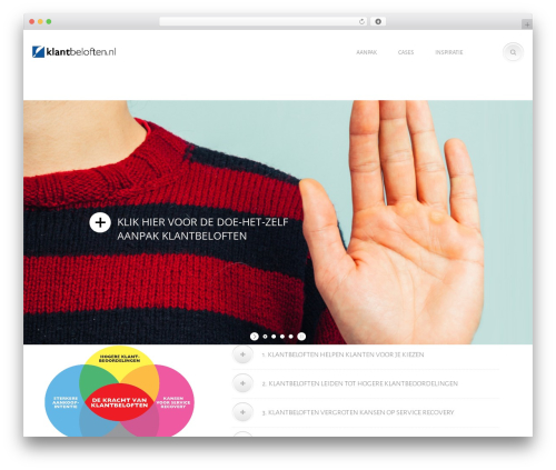 Chimera WordPress page template - klantbeloften.nl