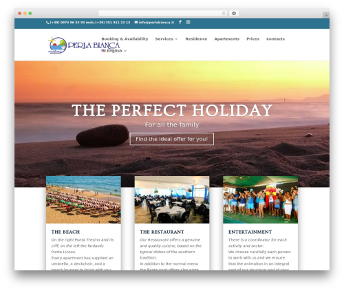 Divi WordPress theme - perlabianca.it