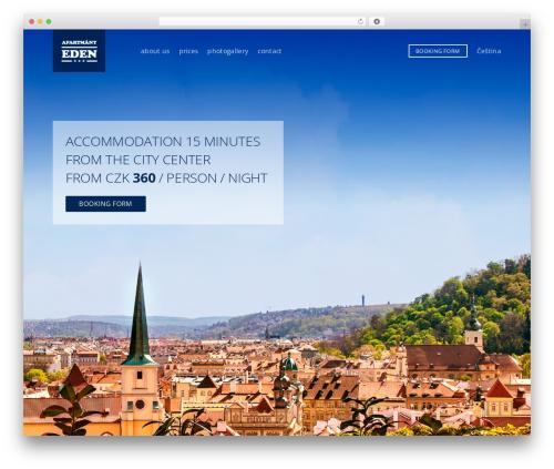 Eden WordPress page template - apartmanyeden.cz