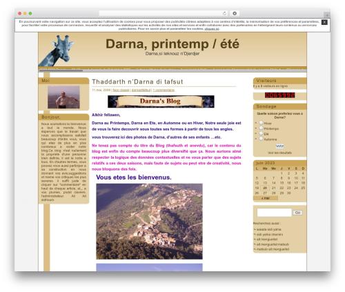 Giraffe2 WordPress website template - darnaditafsut.unblog.fr