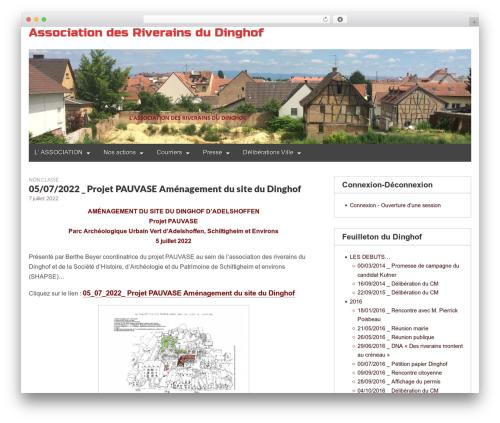 Gridiculous best free WordPress theme - dinghof.org