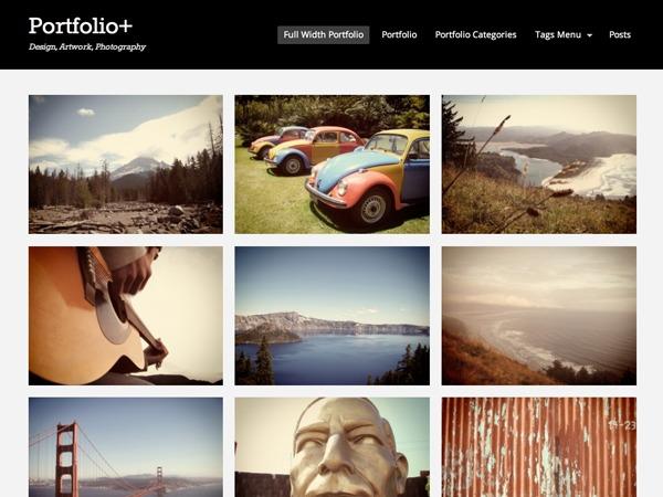 Portfolio+ Customizations WordPress portfolio theme