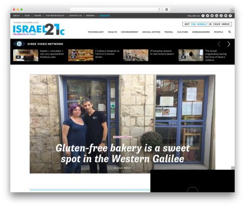 RGB newspaper WordPress theme - israel21c.org