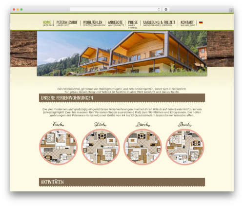 Spa Treats WordPress page template - peterwieshof.it