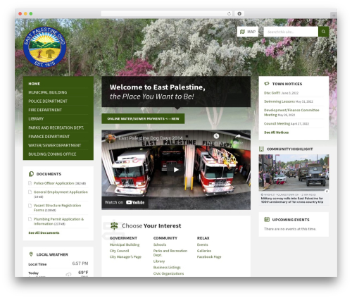 Theme WordPress TownPress - eastpalestine-oh.gov