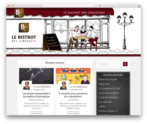 Voice WordPress theme - lebistrotdescreateurs.fr