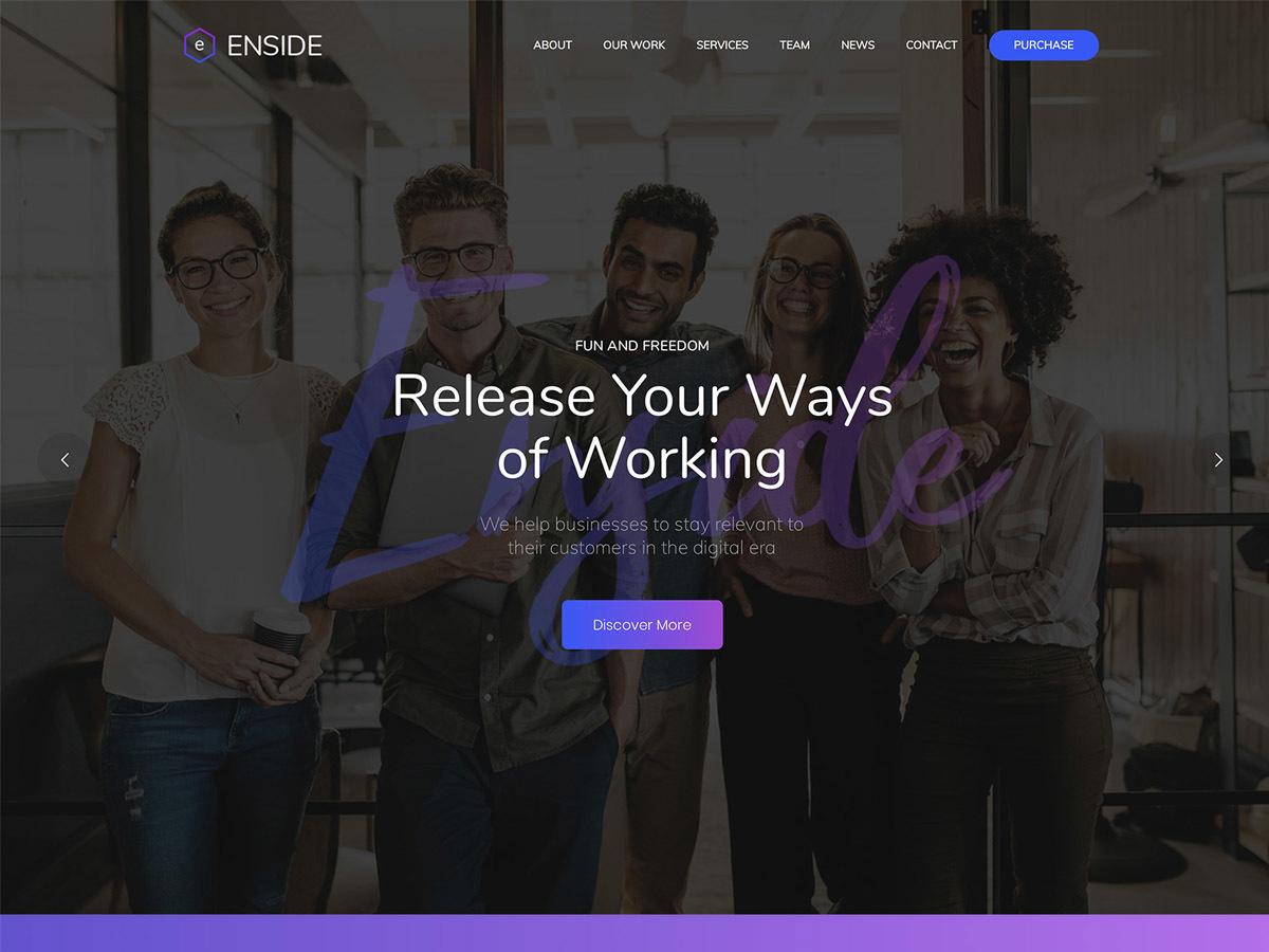 WordPress theme Enside