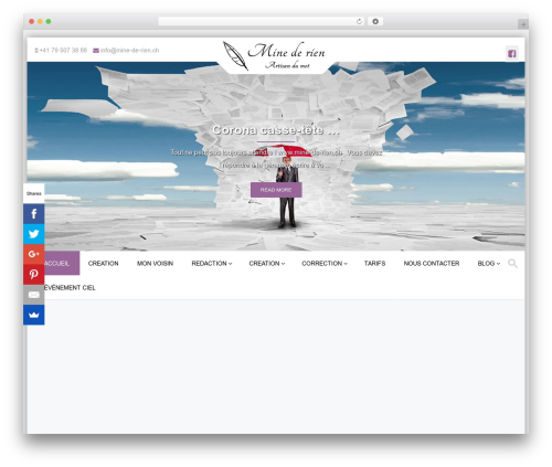 WordPress theme PremierPro - mine-de-rien.ch