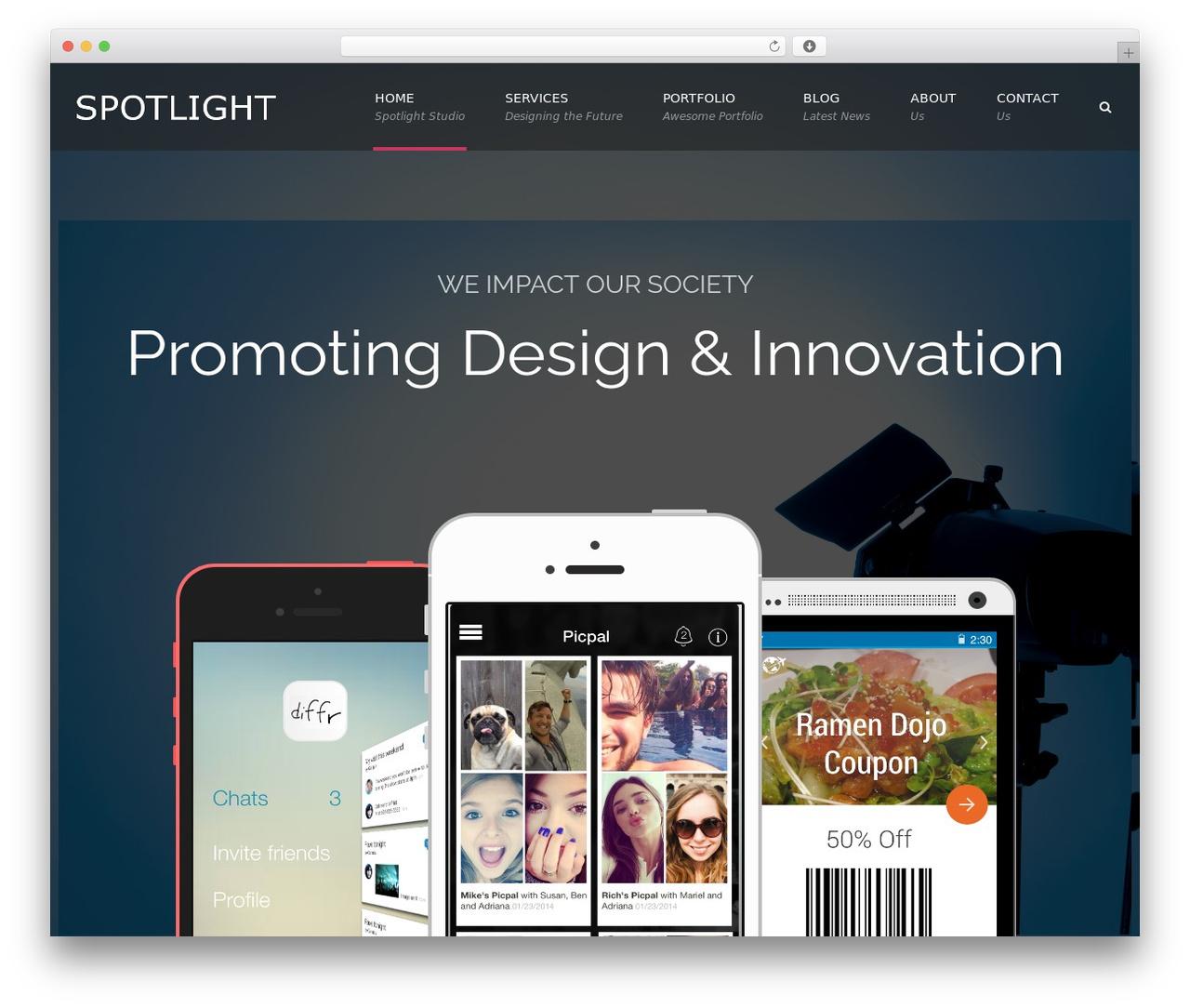Applay WordPress theme - spotlightstudio.org
