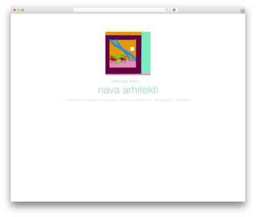 Citadel WordPress website template - nava-arh.si