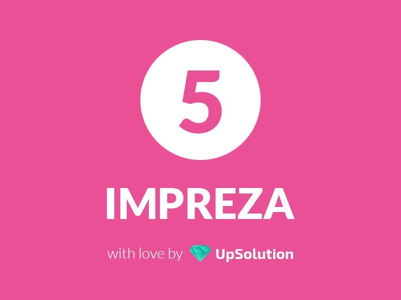 Impreza WordPress website template