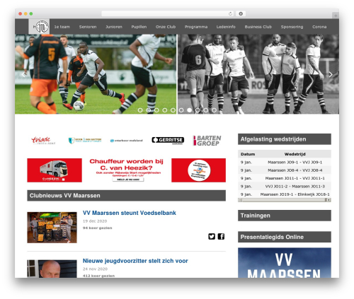 Redesign Sportlinkclubsites top WordPress theme - vvmaarssen.nl