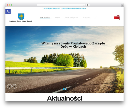 Roadway WordPress website template - pzdkielce.pl