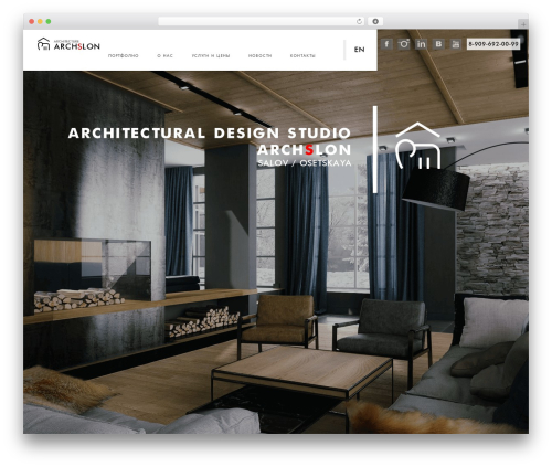 Theme WordPress Domik - arch-slon.ru
