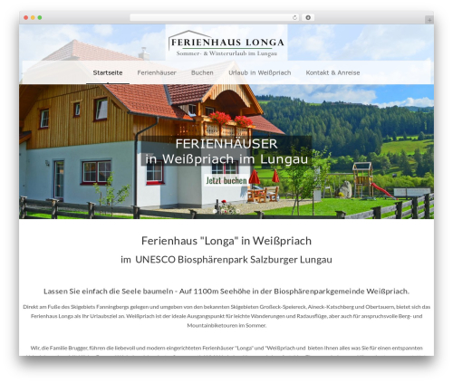 Veda WordPress theme - ferien-brugger.at