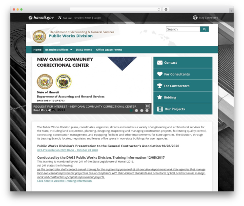 WordPress template State child Template - pwd.hawaii.gov