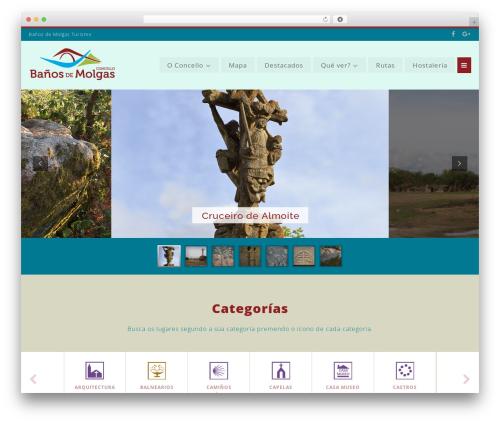 WordPress theme BusinessFinder+ - turismobanhosdemolgas.gal