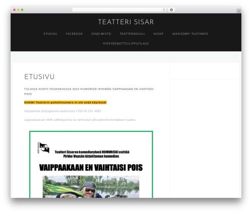 Astrid WordPress template free - teatterisisar.fi