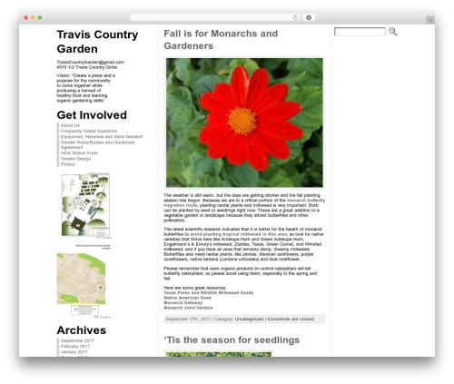 Atahualpa garden WordPress theme - traviscountrygarden.com