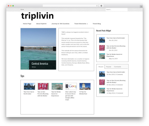 Bangkok Press WordPress theme - triplivin.com