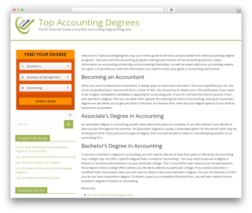 ColorMag Pro WP theme - topaccountingdegrees.org