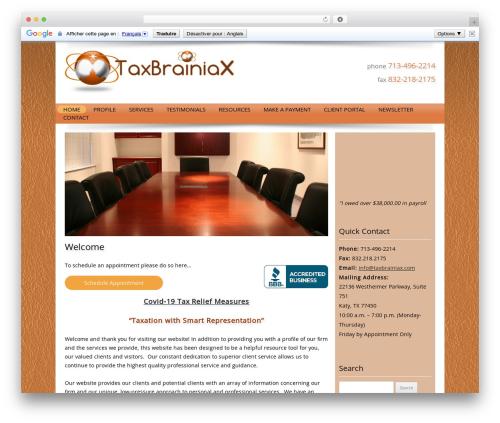Customized WP template - taxbrainiax.com