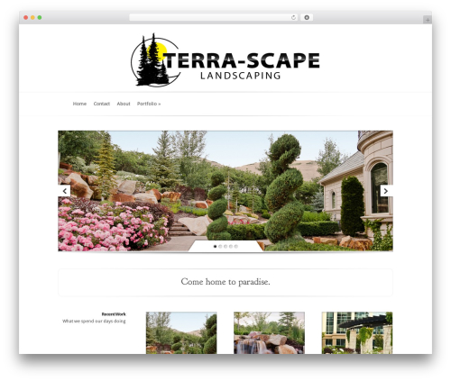 Evolution garden WordPress theme - terra-scape.com