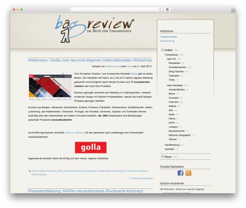 Fusion best WordPress theme - taschentest.de