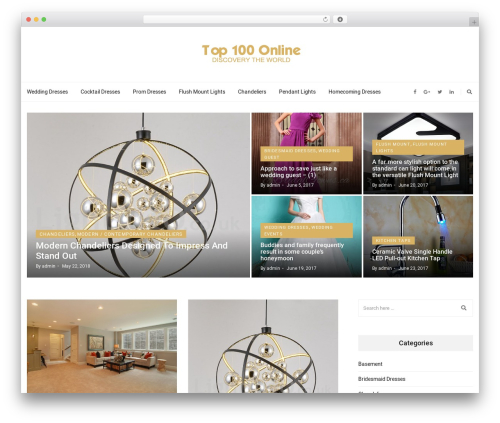 Higher Place WordPress theme - top100online.org