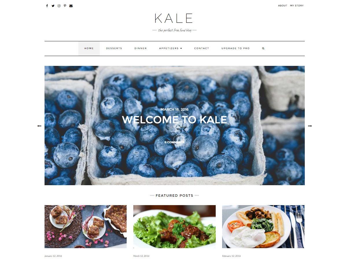 Kale Child WordPress blog template