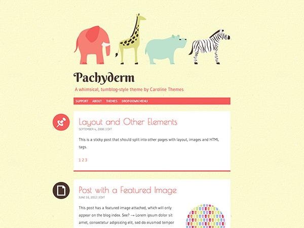 pachyderm child WP template