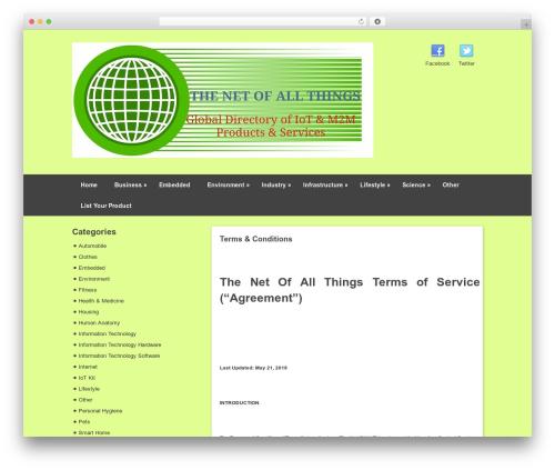 Pinboard best WordPress template - thenetofallthings.com