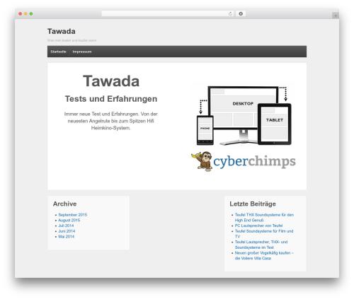 Responsive best WordPress template - tawada.de