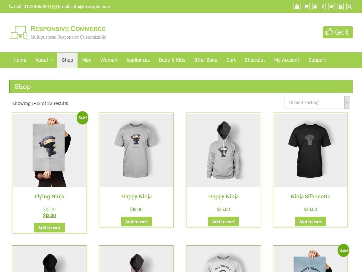Responsive Commerce WordPress magazine theme
