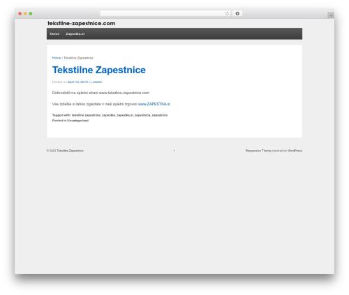 Responsive theme WordPress free - tekstilne-zapestnice.com
