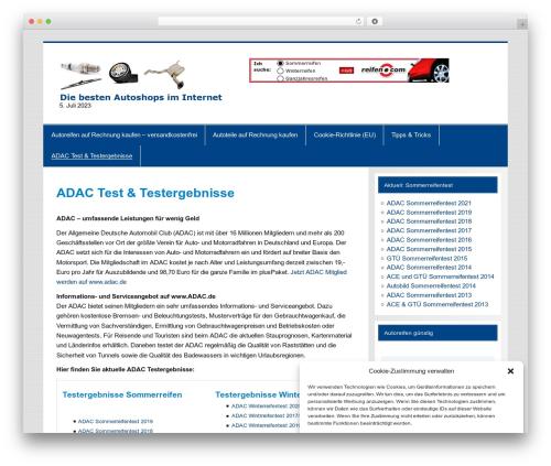 Smartline WordPress ecommerce template - top-autoreifen.de