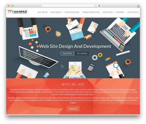 VozX business WordPress theme - tekmaz.com