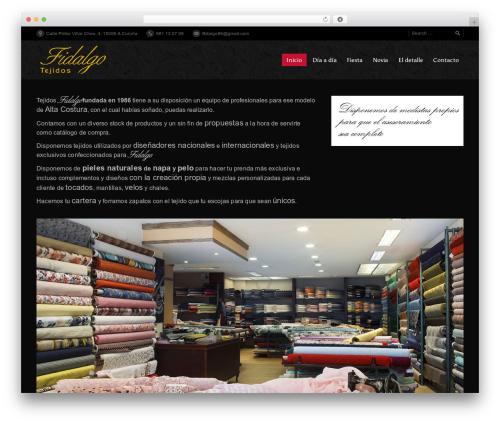 WordPress template PressCore - tejidosfidalgo.com