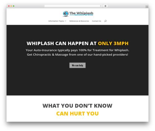 WordPress theme Divi - treatmentforwhiplash.com