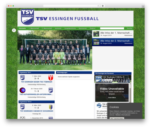 WordPress theme Football Club - tsvessingen-fussball.de