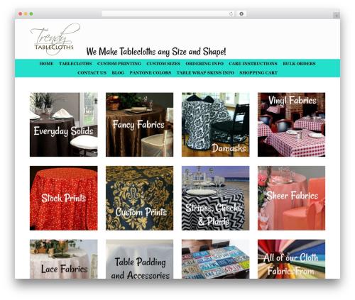 Free WordPress Ecwid Ecommerce Shopping Cart plugin - trendytablecloth.com