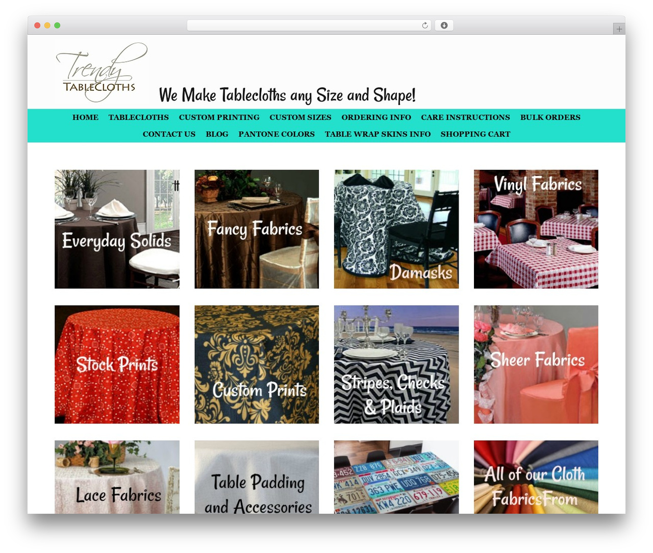 WordPress theme Vantage Premium - trendytablecloth.com