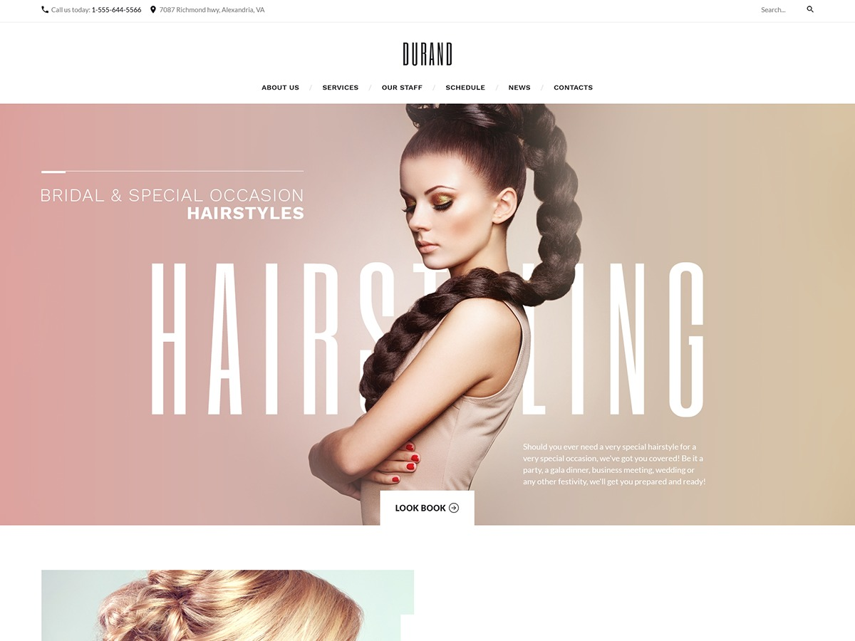 WordPress website template Durand
