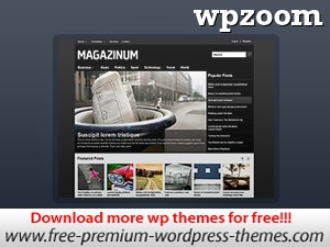 WordPress website template Magazinum
