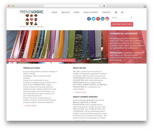 WP theme Corporate Responsive WordPress Theme - trendlogic.nl