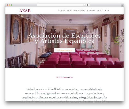 Ester best WordPress template - aeae.es
