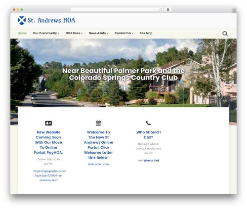 Khidir WordPress website template - standrewshoa.org