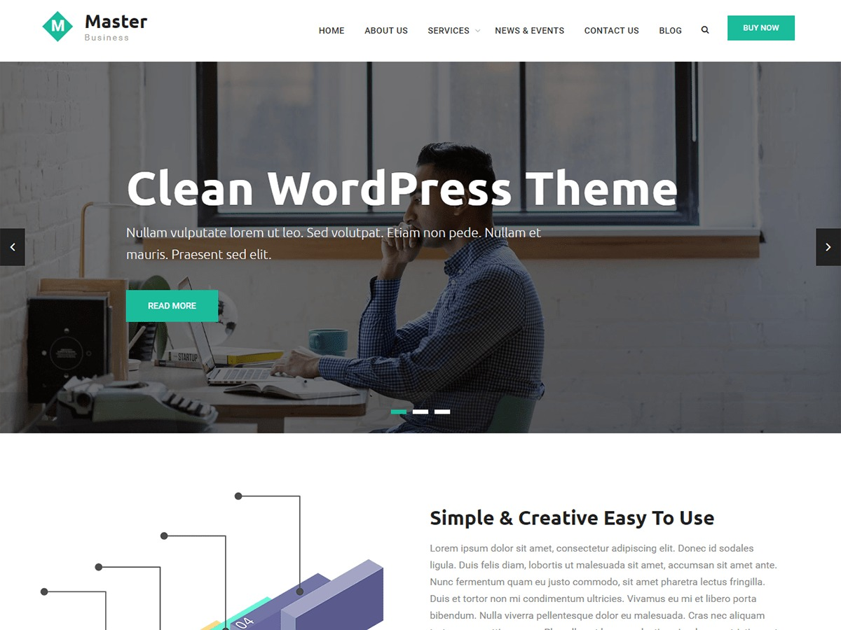 Master Business WordPress template for business