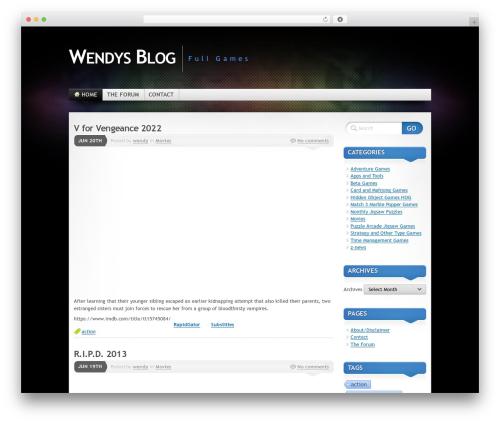 Mystique 2 WordPress blog template - wendysblog.info