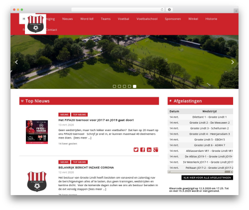 Redesign Sportlinkclubsites WordPress page template - grootelindt.nl